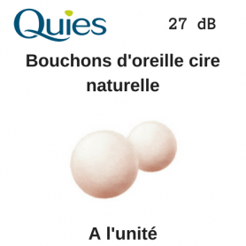 Boule Quies en cire naturelle Atténuation de 27dB